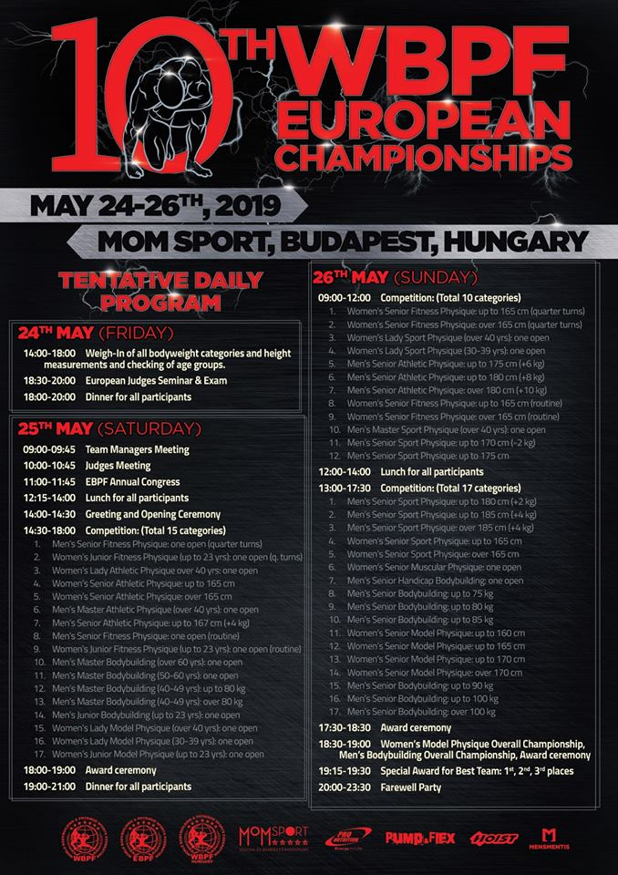 WBPF 10th European Championships