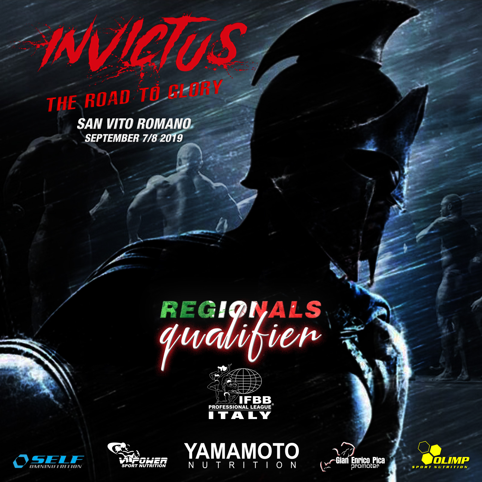 IFBB Pro League Regionals San Vito Romano - Invictus-The road to glory